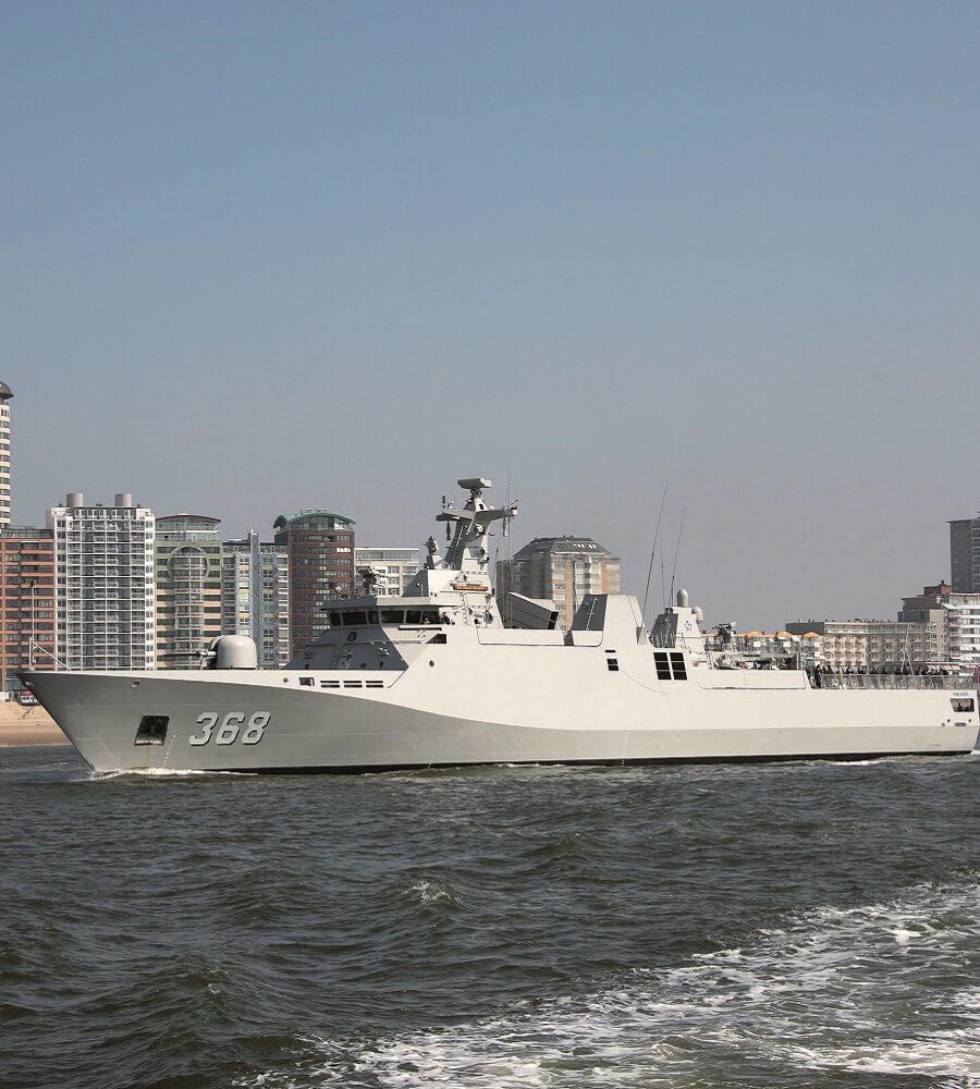 Patrol vessel air conditioning